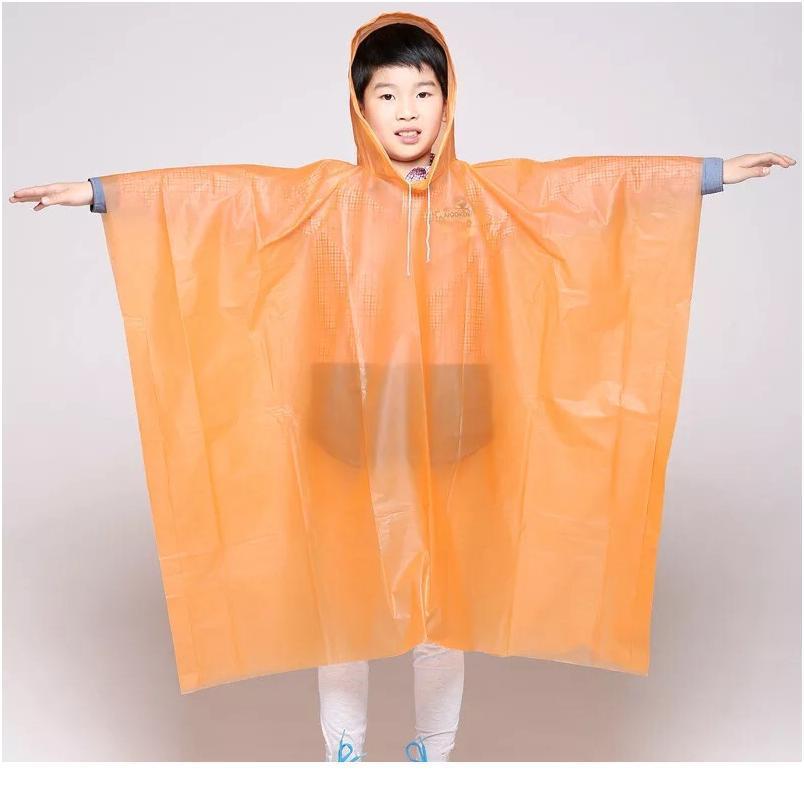 Children Poncho Rain Waterproof Raincoat Waterproof Transparent Kids Disposable Rain Coat Cover Kids Rainwear Camping jllMfK