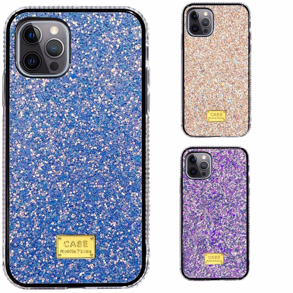Rhinestone Bling Glitter Arka Kapak Kılıfları PC + TPU iPhone 6 7 8 Artı X XR 11 12 Mini Pro Max