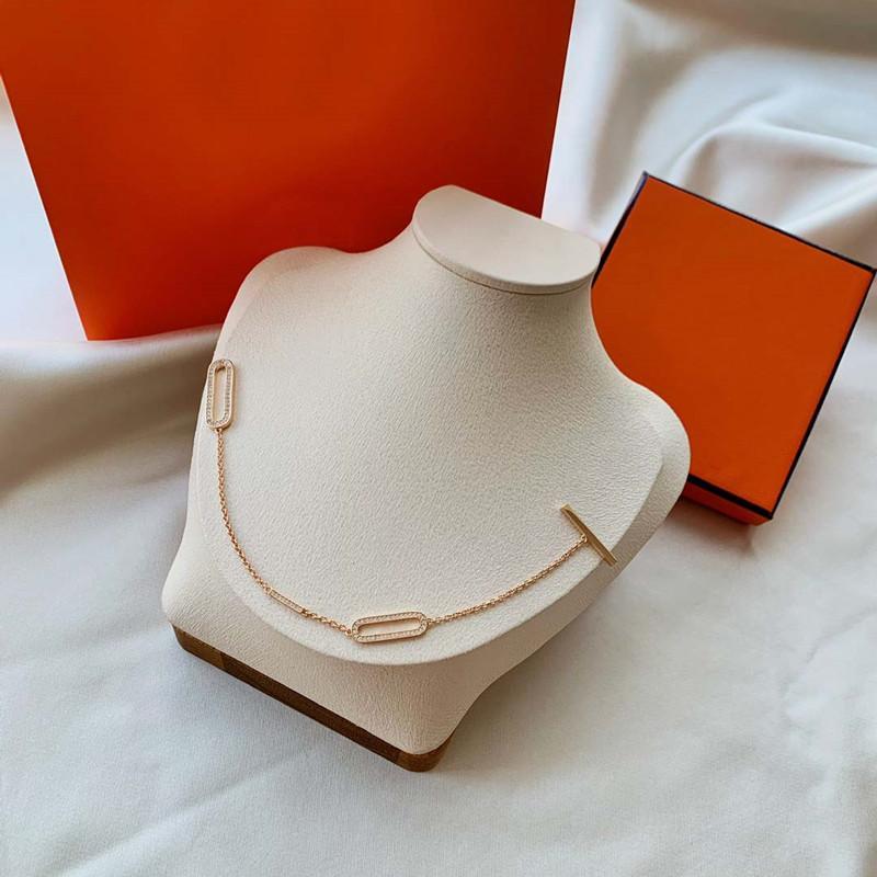 Bracelet élégant Collier Collier Collier Homme Femme Unisexe Chaîne De Mariage Bracelets Colliers Design Spécial Bijoux Très qualité avec boîte