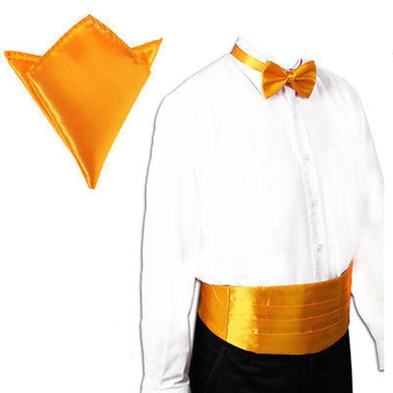 أحزمة الرجال الكلاسيكية cummerbund الحرير مطاطا bellyband سهرة cummerbunds bowtie hanky handerchif مجموعات الرسمي حفل الزفاف حزب الخصر الفرقة