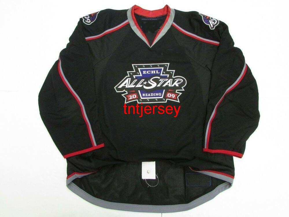 Dikişli Özel 2009 ECHL All Star Hokey Jersey Herhangi bir isim ekleyin Erkek Çocuklar Jersey XS-5XL