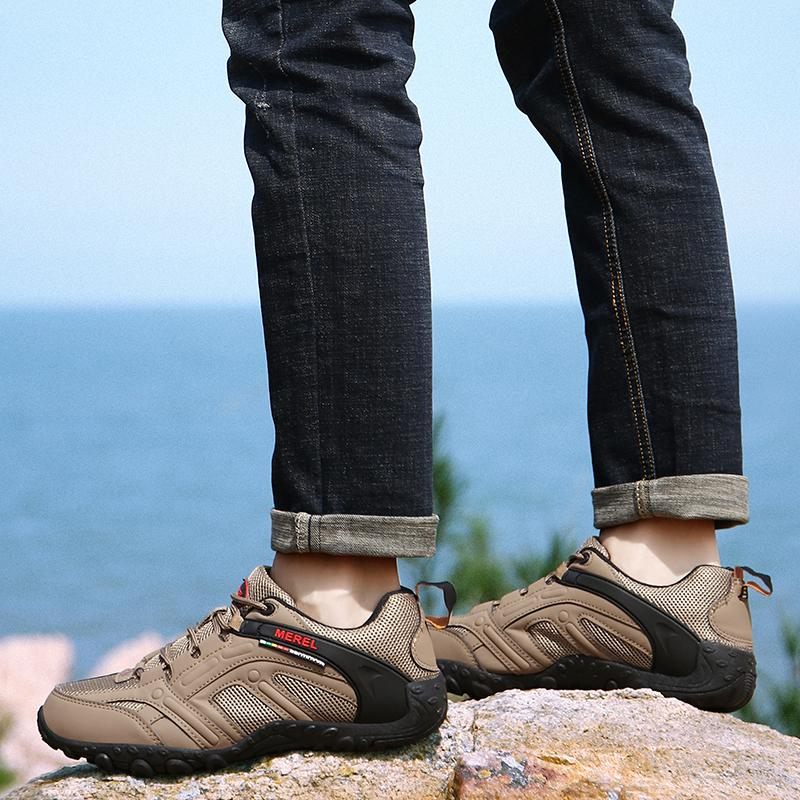 High Quality Mens Hiking Shoes Luxury Breathable Trend Men Sneakers Walking Shoes Brand Outdoor Non-slip Sports Shoes