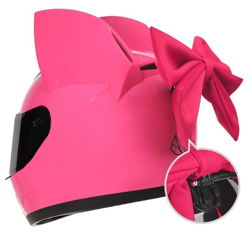 Capacete de motocicleta Mulheres Casco moto orelha motocross capacete personalidade face completa cascos para moto motocicleta acessórios 8 cor