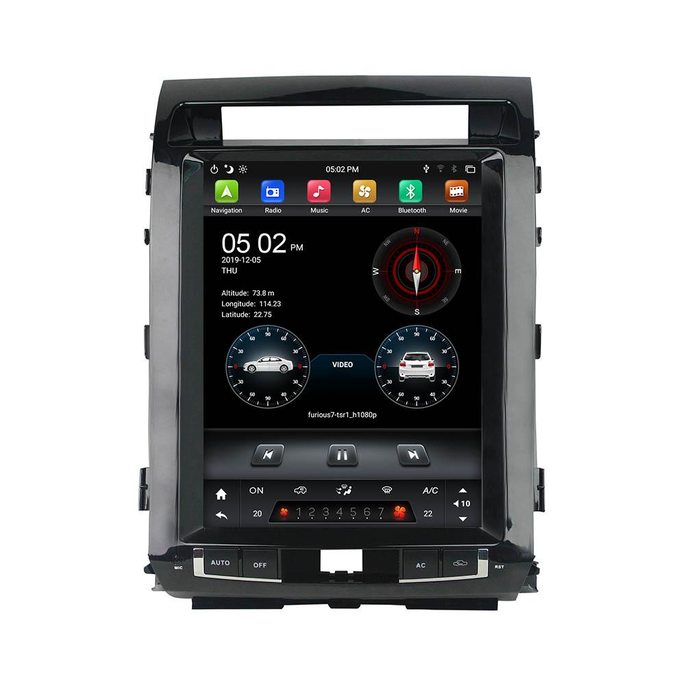 """DSP Tesla Style IPS PX6 6-CORE 12.1 """"Android 9.0 DVD DVD Radio GPS pour Toyota Land Cruiser 2008-2015 Bluetooth 5.0 WiFi Easy Connect"""