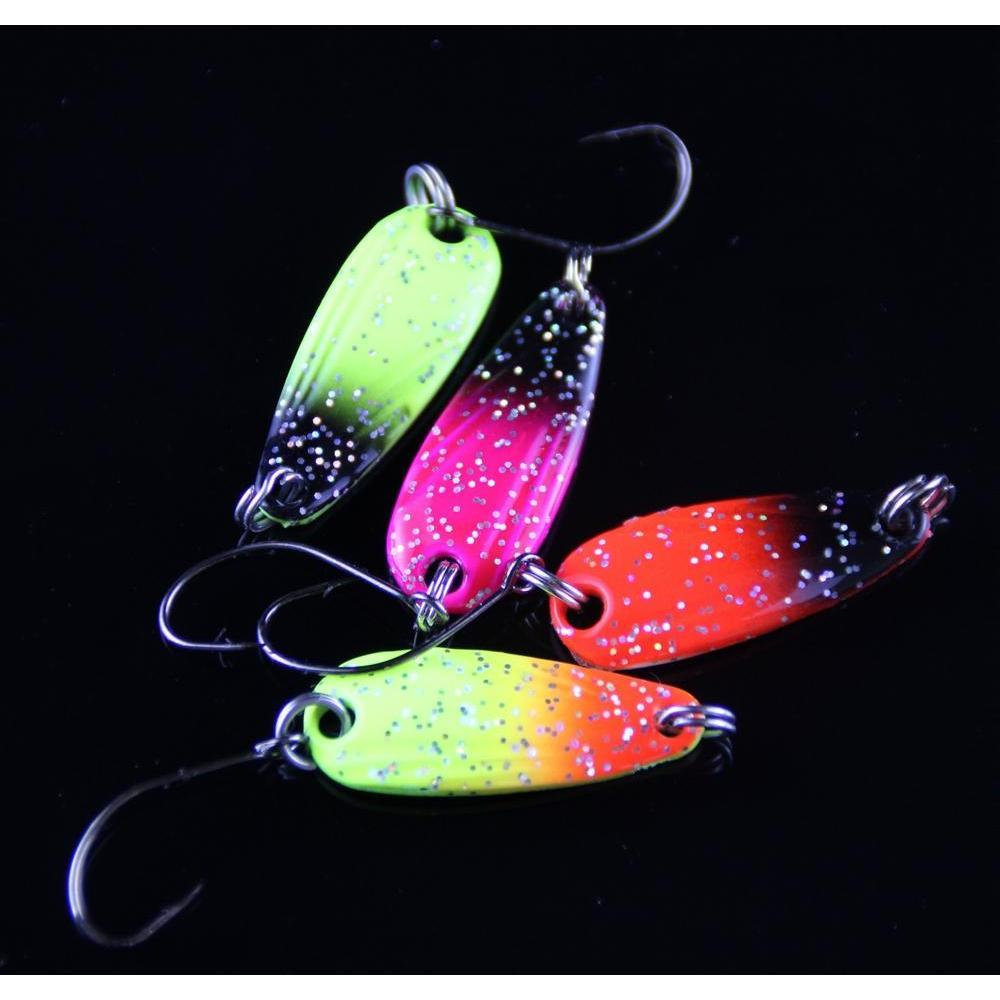 Rosewood First Class 20pcs 3g Spinner Metal Fishing Lure Fishing Spoon Tackle Paillette Sequins Spoon Lures Mix Co jlloGS xmh_home