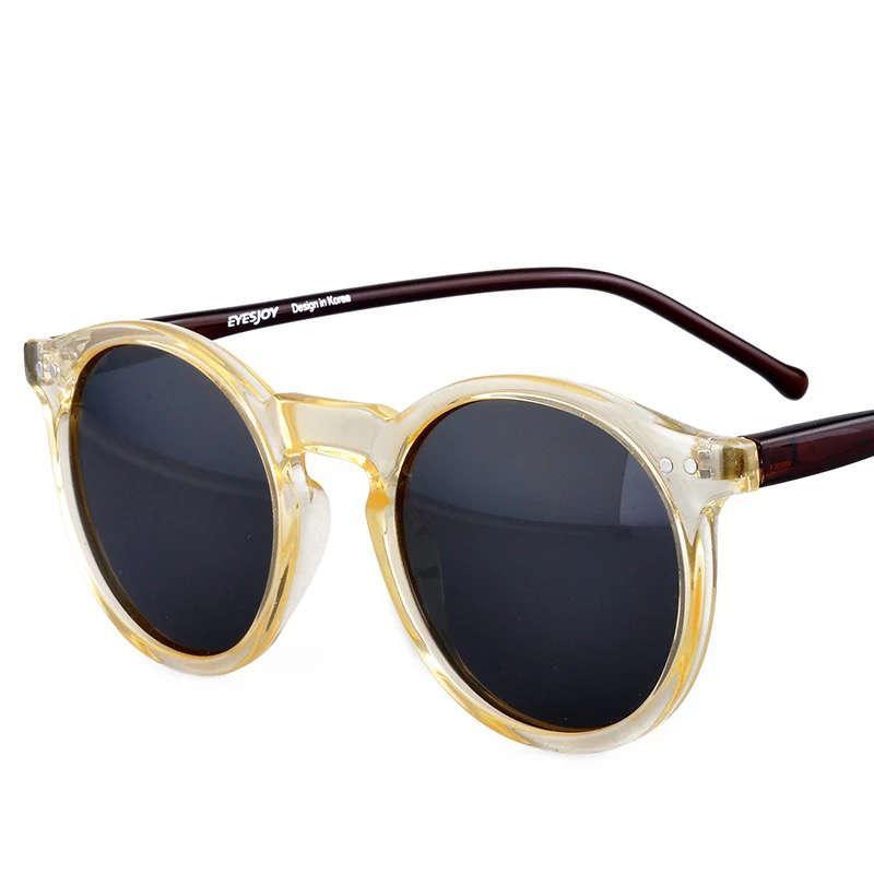 Солнцезащитные очки Мужские оттенки для женщин Ретро круглые очки рамка винтаж винтаж бренд дизайнер мода солнцезащитные очки наружные украшения