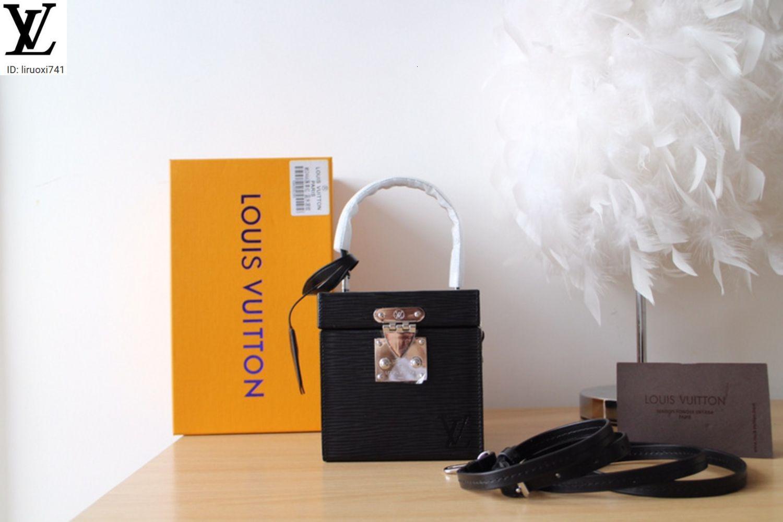 M52466 Квадратная косметическая сумка Чернокожие женские сумки иконические сумки верхние ручки Сумки на ремне Сумки крестные сумки Сумки вечер