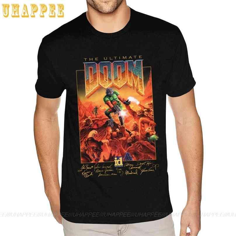 Doom T Shirt Men Video Game Cotton T-shirt 6xl For Men's Design Shirts 210726