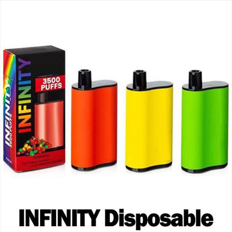 Infini moulée jetable e cigarettes 1500mAh capacité de batterie 12 ml avec 3500 bouffées vs supplémentaire ultra