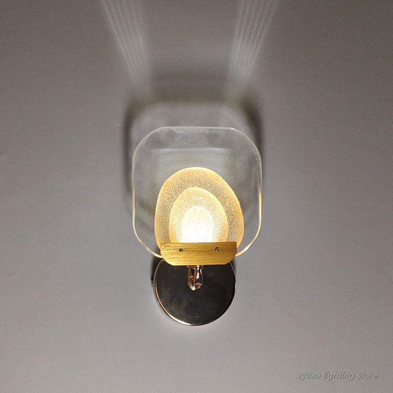 Nordic Wohnzimmer Wanddekor Kristall LED Wandleuchten Schlafzimmer Nachtlichter Leuchten Leuchte Korridor Badezimmerspiegel Front Lampe
