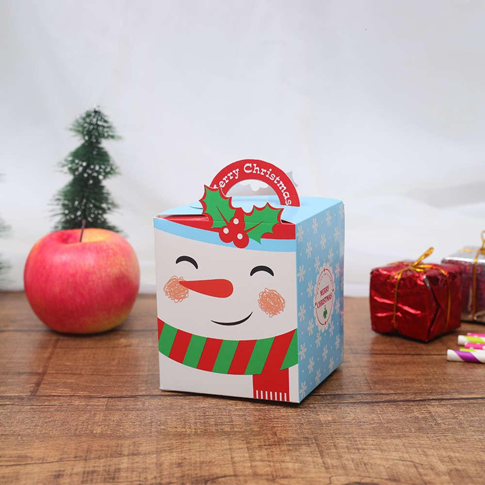 Caja de regalo de la víspera de Navidad Santa Claus Diseño de hadas PaperCard Presente Favor de Favor de Actividad Año Nuevo Cajas de Apple W-00386