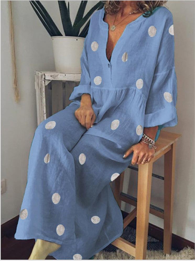 Femme Casual Fashion Maxi Robe Bohemian Imprimer