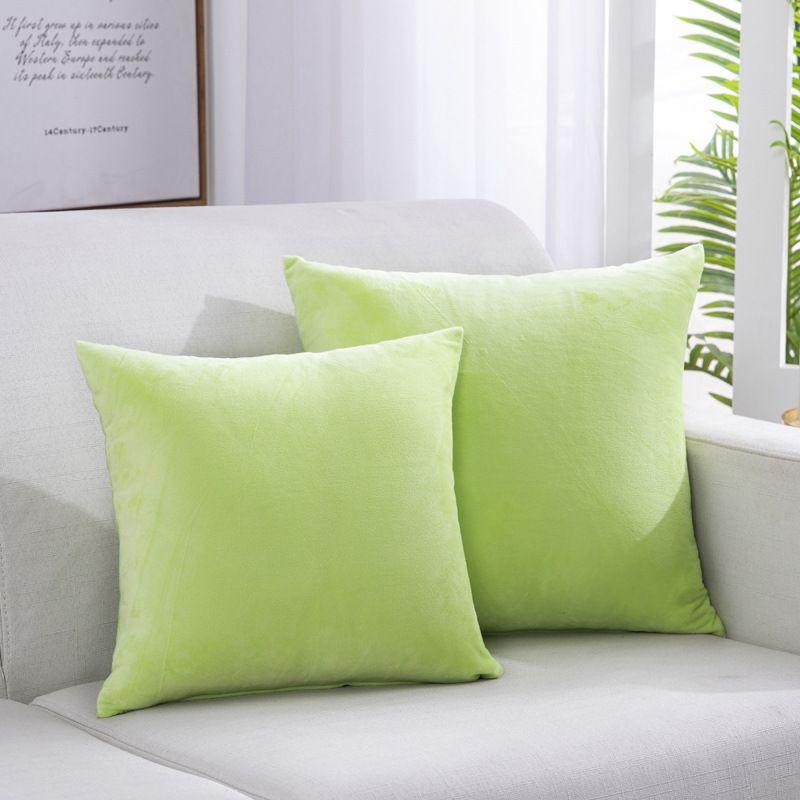 F81 маленький свежий обнимать наволочка вертикальная полоса замшевые подушки подушки бытовые товары обнять наволочку сплошной цветной подушки охватывает ASDF