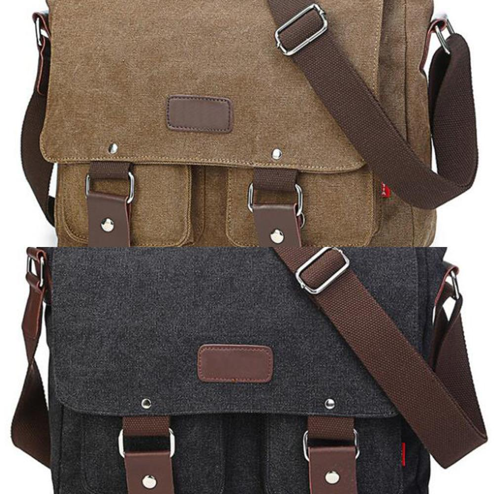 Men's Vintage Canvas Bag Men Casual Crossbody Bag For Men Messenger Bag Man Travel Shoulder Bags Bolsa Masculina High Quality C0224