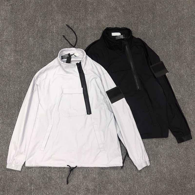 Homens manga comprida homem bolso hoodies zip casacos unisex roupas outdoor streetwear casual o pescoço loosed hip hop moda outono spring ins