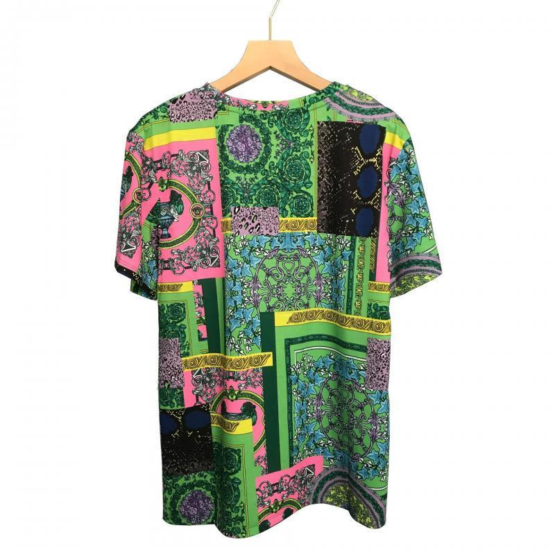 Women's T-Shirt 2021 Summer O-Neck Oversize Loose Cotton Ladies Fashion Printing Tee Top Women Short Sleeve Clothing