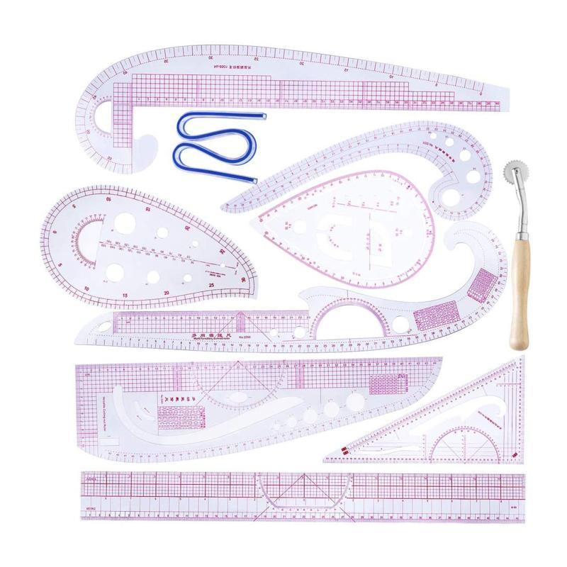 Nouveaux produits Couture Règle DIY Couture Rulder Set Set 10pcs Curve Métrique Multifonction Ménage Articles Petits articles