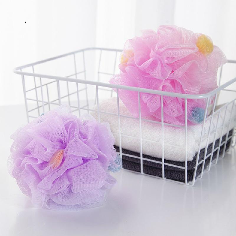 Большой размер мяч прекрасный потертый обратно пузырьковые изделия цветочные ванны POUF губка цветочные полотенце тела скруббер