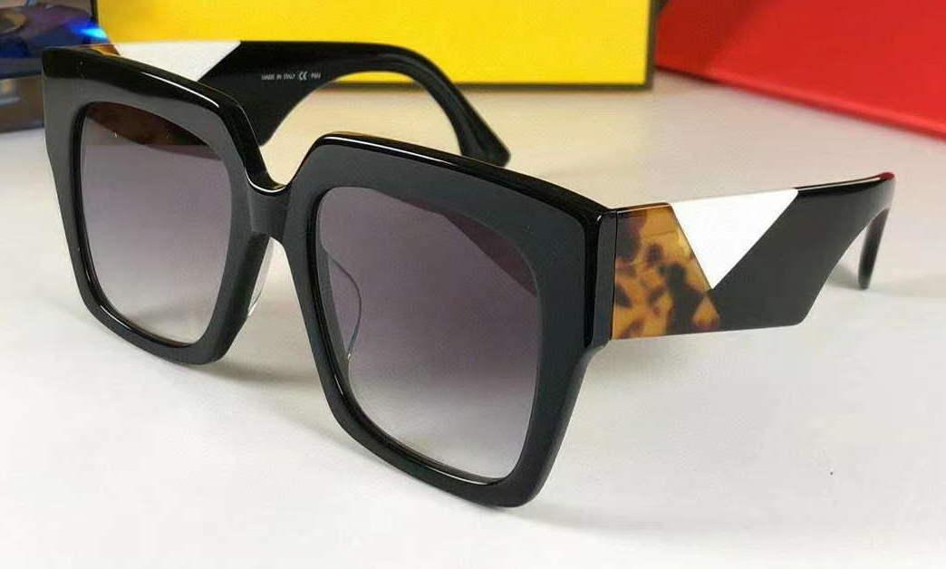 Sunglasses Black Havana White Grey Gradient 0263/S Fashion Women Oversize Sonnenbrille gafas de sol de with Box Mens Sunglassess brand