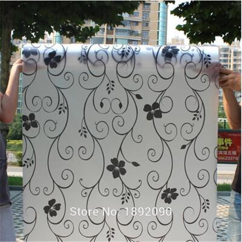 Wide 60cm*Long 200cm Frosted Opaque Film For Window Privacy Adhesive Glass Stickers Waterproof Bathroom Toilet Y200421