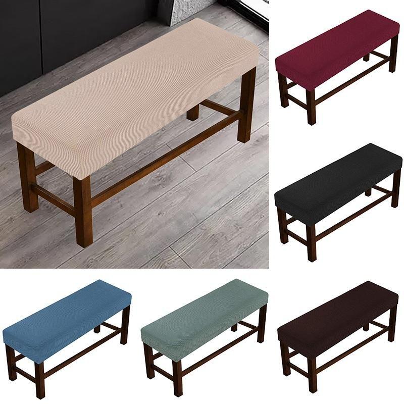Chaise Couvre Banc Spandex Étui de protection longue pour salle à manger Stretch Piano Slipcover élastique