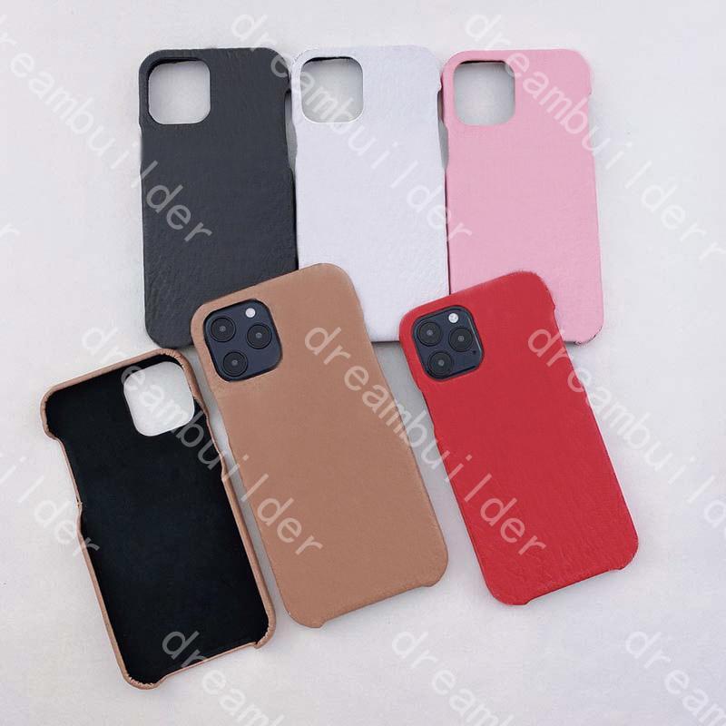 Casos de telefone de moda de uma peça para iPhone 12 pro máximo mini 11 x xs xsmax 7 8 mais caso de couro pu pu