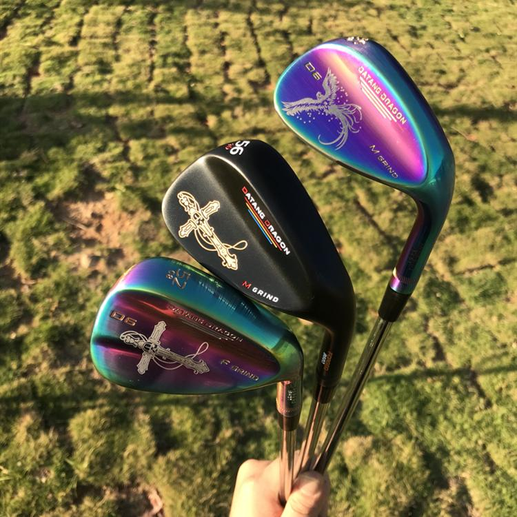 2021 Жиж для гольфа Datang Dragon Phoenix / Crucifix Щенсы кованые 52 56 60 Степень с динамическим золотом вал S300 3PCS гольф-клубы