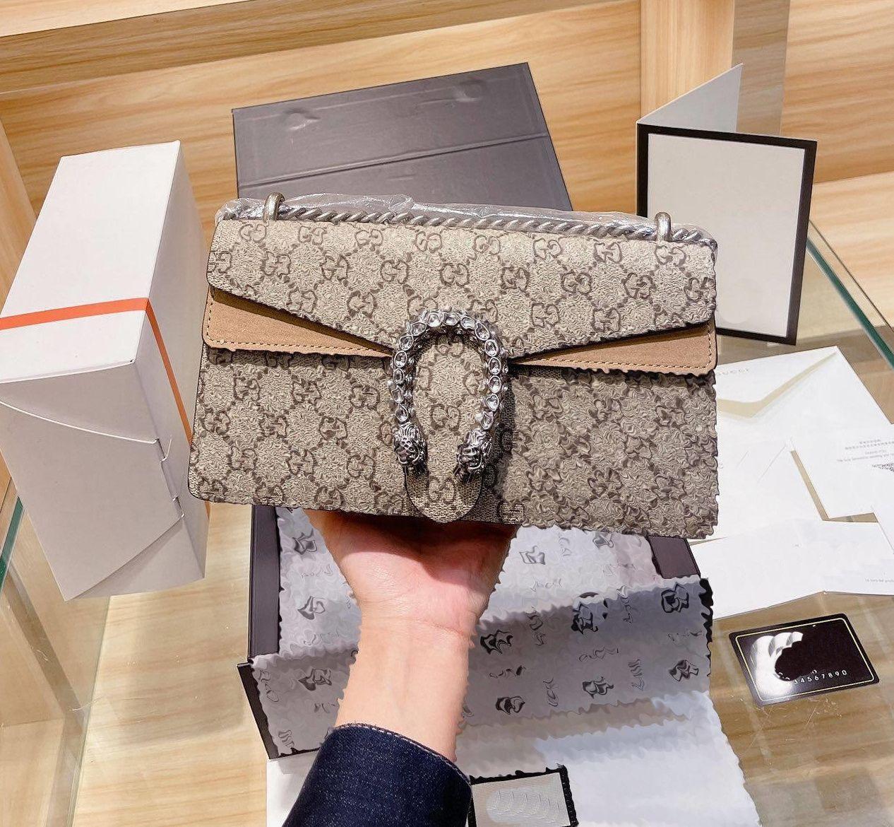 Designer Crossbody Tote Borsa a tracolla Messenger Handbag Portafoglio Sella Sacchetto Lvlouis Zaino con logo Gucci A59