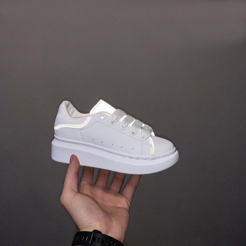 Designer di lusso riflettente sneaker sneaker tagliato basso classico casual formatore bambini ragazzo ragazza bambini moda scarpe sportive misura26-35