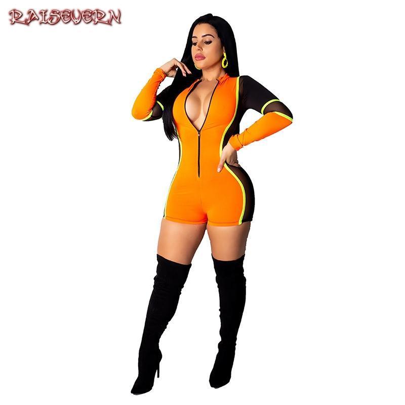 Женские комбинезоны Roamsers Rookvern Support Sporty женщин из двух частей наборы полосатые наряды на молнии боди Playsuits и вырезать шорты ST