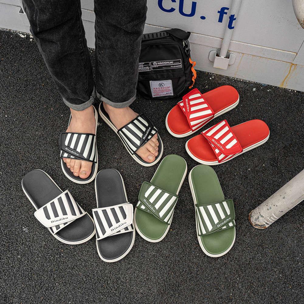 2020 Yaz Yeni Kore Casual Çift Sandalet Moda Yumuşak Sole Erkek ve Kadın Terlik Beach