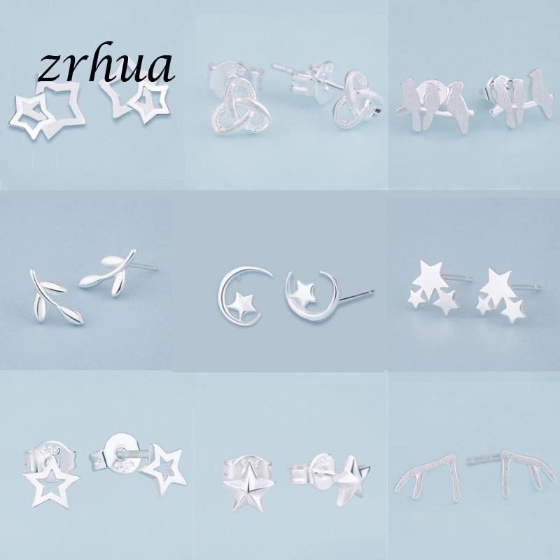 Zrhua Последние приятные элегантные учебные серьги для женщин маленькие подарки горячие продажи крошечные ювелирные изделия женские вечеринки заручения Brinco