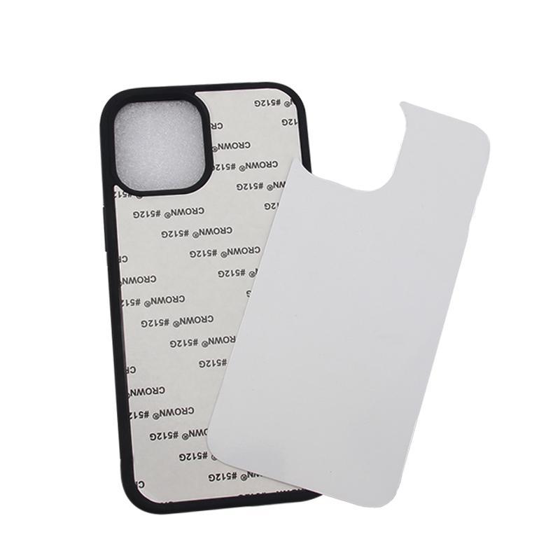 Сублимационные телефонные чехол для iPhone 12 11 Pro Max XS XR TPU бампера алюминиевая пустая приглагаемая задняя крышка DIY дизайн