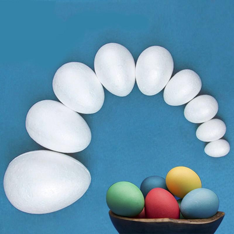 15pcs / 10cm-5cm Modélisation Polystyrène Styrofoam mousse Boule d'œuf en mousse Boule d'artisanat blanc pour DIY Christmas Party Décoration Fournitures Cadeaux 720 K2