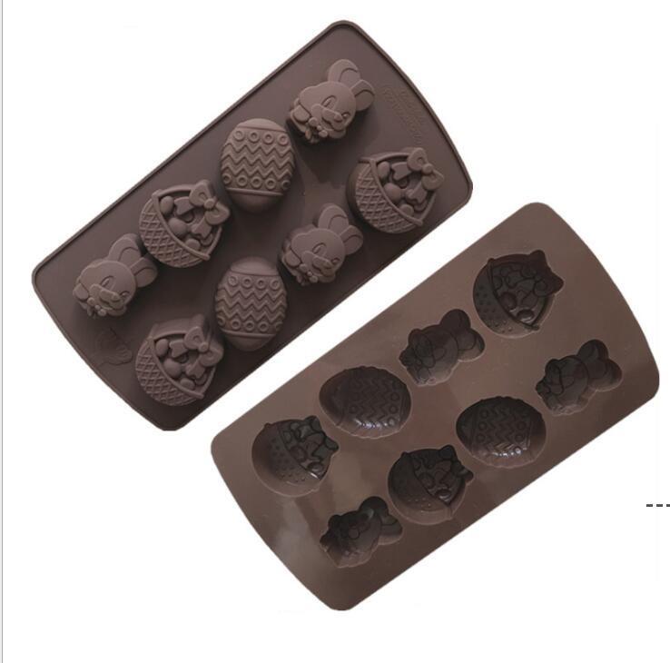 أدوات عيد الخبز عيد الفصح الشوكولاته العفن أرنب البيض الأشكال فندان قوالب هلام وحلوى 3d قوالب المطبخ الخبز كعكة diy owe4917