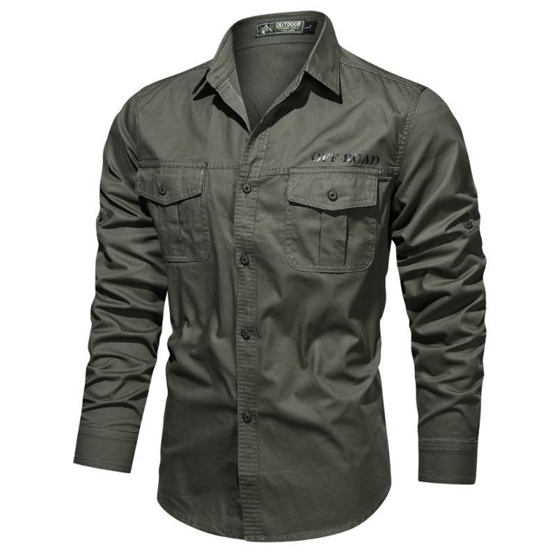 Весна Мужчины 100% Хлопок Рубашка Мужчины Повседневная Тонкий Подходящий Отворот С Длинным Рукавом Мужские Рубашки Высококачественная Хломатная Рубашка для