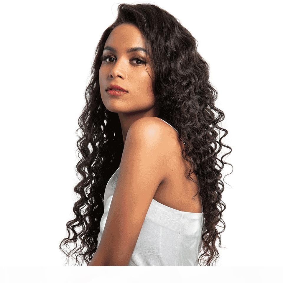 Перуанские волосы глубокая волна 360 кружева фронтальные парики предварительно сорванные с детским волосами 360 кружева передние человеческие парики волос для черной женщины
