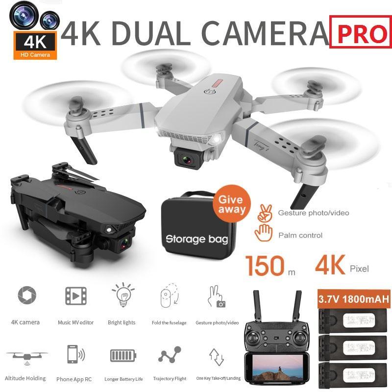 2021 EL88 Mini Drone 1080P WiFi FPV HD 4K Двойная камера RC Дроны Высота Холдинг Режим складной Quadrootor Воздушные вертолетные Подарки Подарки