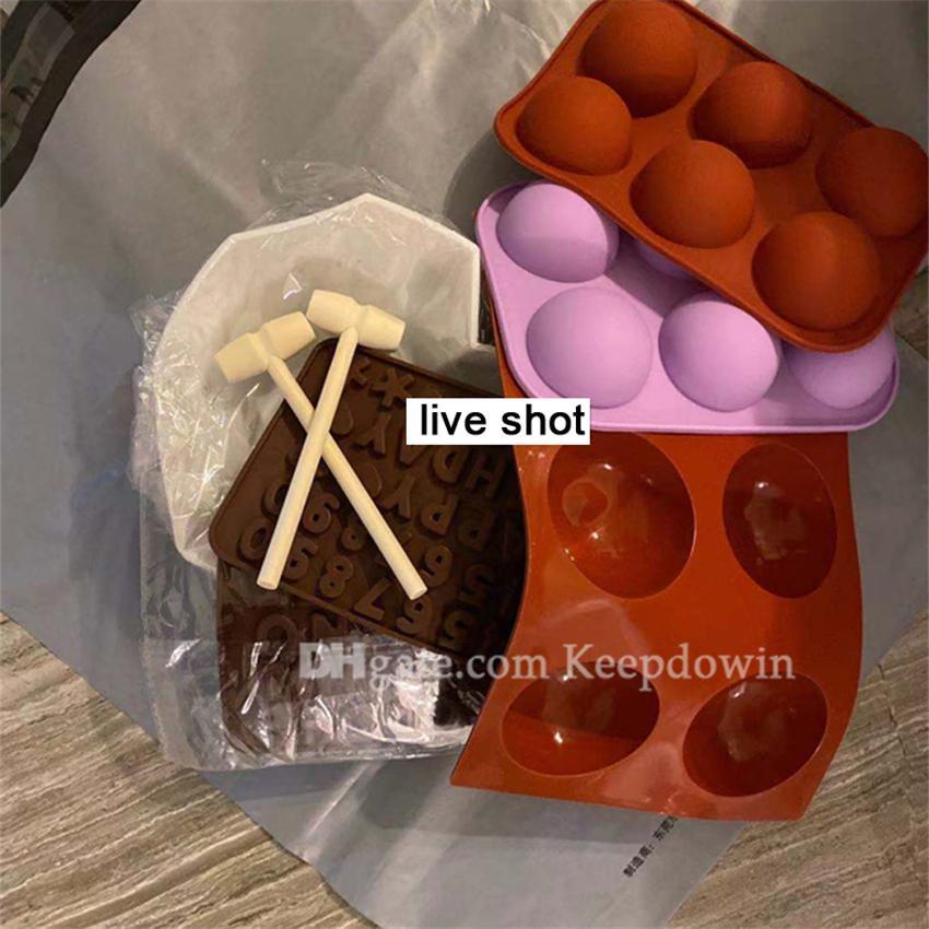 Yuvarlak Silikon Çikolata Kalıpları Pişirme İçin Şeker Silindir Kalıp Sandviç Kurabiye Muffin Cupcake Brownie Kek Puding Jello JCK5219431196