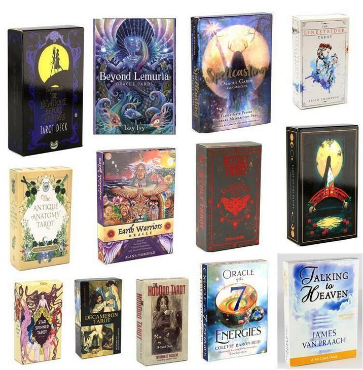 DHL Tarot LineStridider Dreams Dreams Jouet Spinner Spinner Muse Hoodoo occulte Ridetaot del Fuego Cartes Tarot Deck Oracles E-Guide Guide