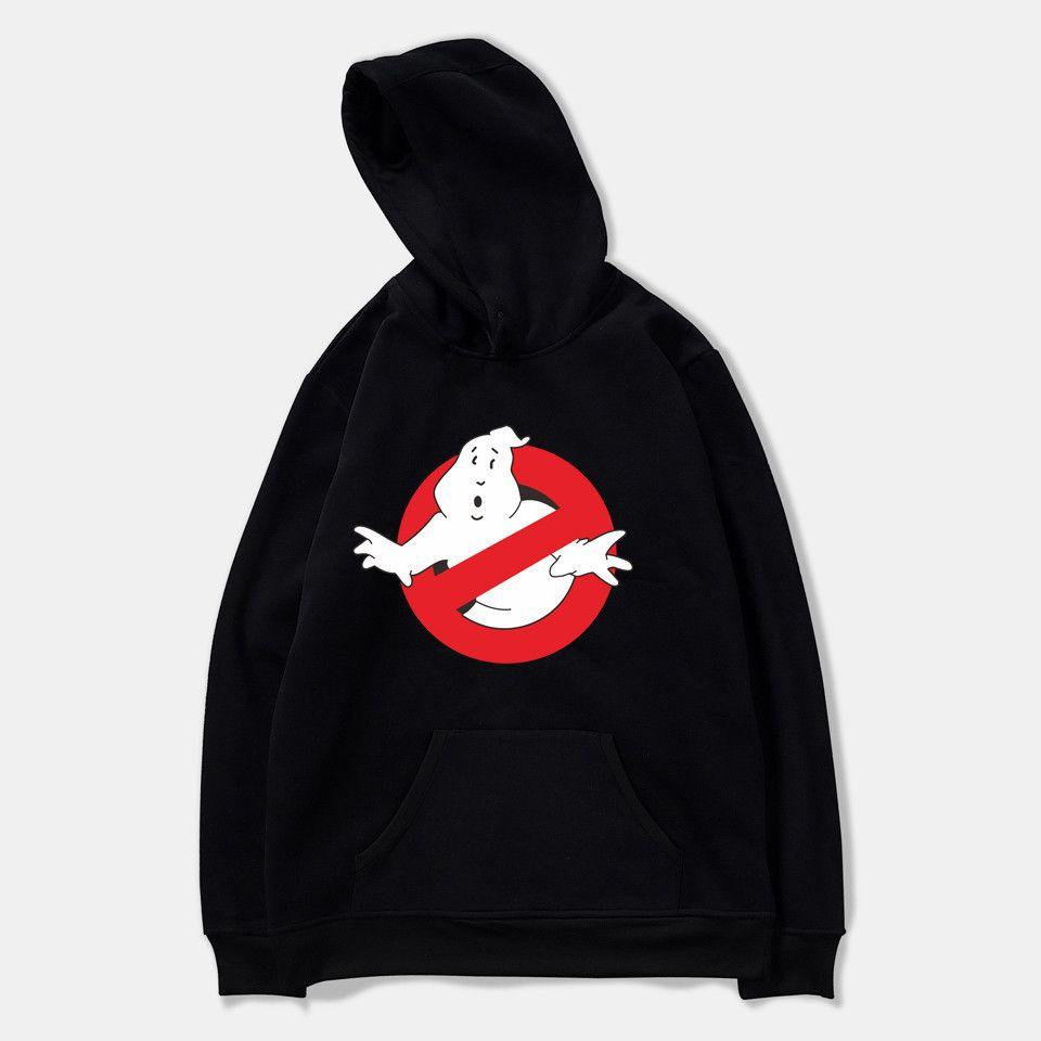 유령버스가 까마귀 남성 / 여성 패션 캐주얼 느슨한 검은 스웨터 인쇄 유령 버스터 힙합 streetwear x1021