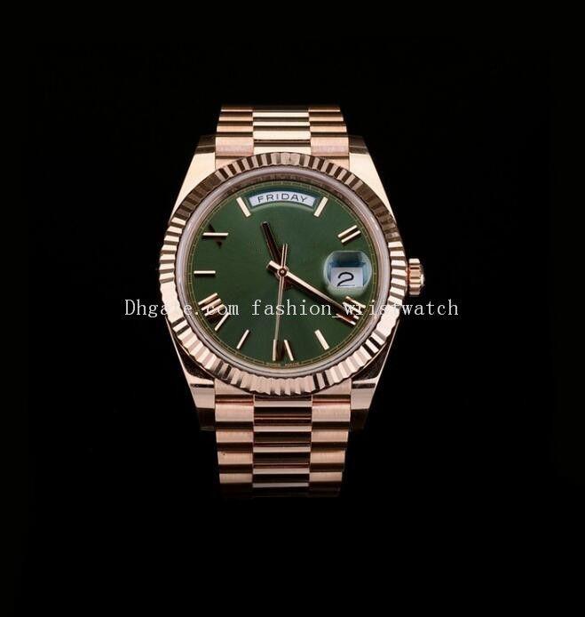 Мода Wathces 228235 228238 228235 228238 228239 40 мм Азия 2813 Мужские механические часы Серебряное золото из нержавеющей стали браслет повседневные часы