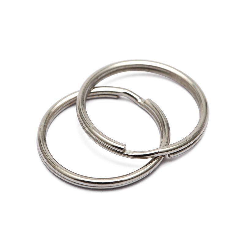 16/20 / 50mm 50pcs / lote Tenedor de metal DIY Tenedor de llavero Split Rings Unisex Llavero Llavero Keyfob Accesorios Llavero Making ACC JLLTHM