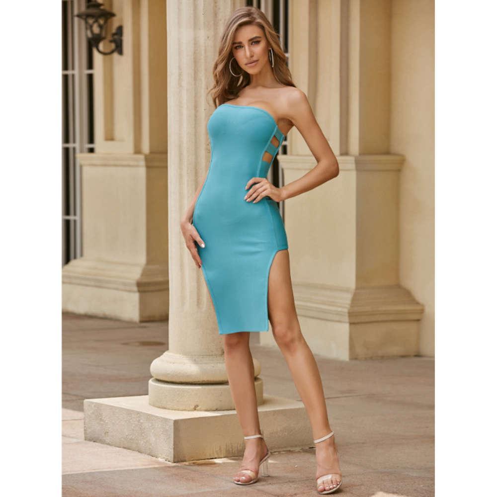 Vestido de noche con cintura alta y vestido inteligente.