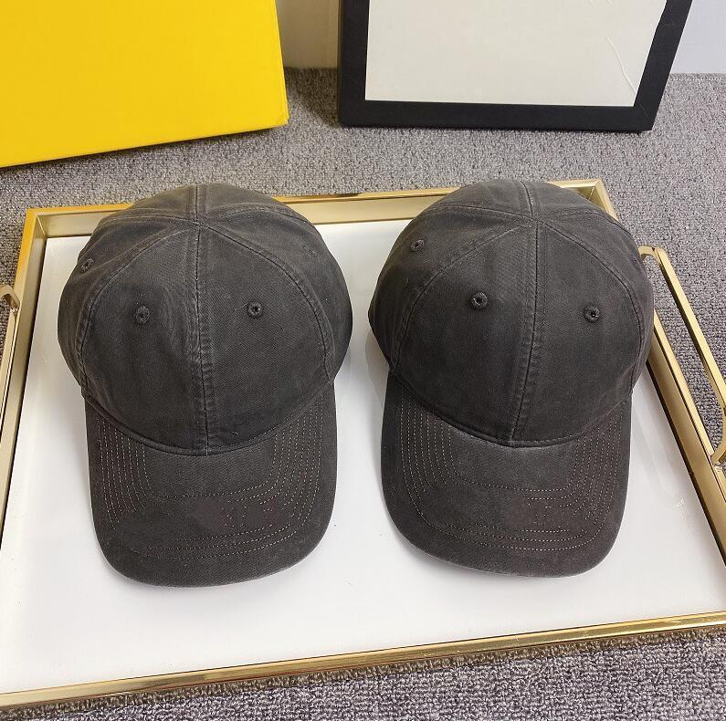 Qualidade da Ceia Corrida B Versão Lavada Denim Boné Boné Homens Mulheres Carta Bordado Ajustável Sol Visor Hat