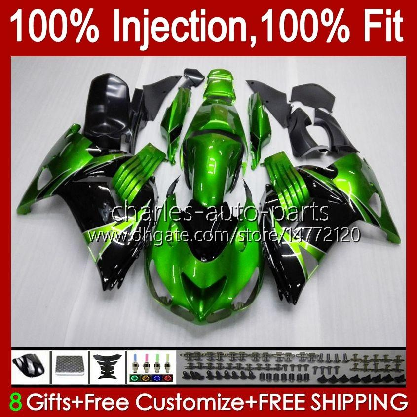 OEM-injectie voor Kawasaki ZZR1400 ZX 14R 2006 2007 2008 2009 2010 2011 49HC.9 ZX-14R ZZR-1400 ZX14R 06 07 08 09 10 11 Verkrijgen Groen Licht