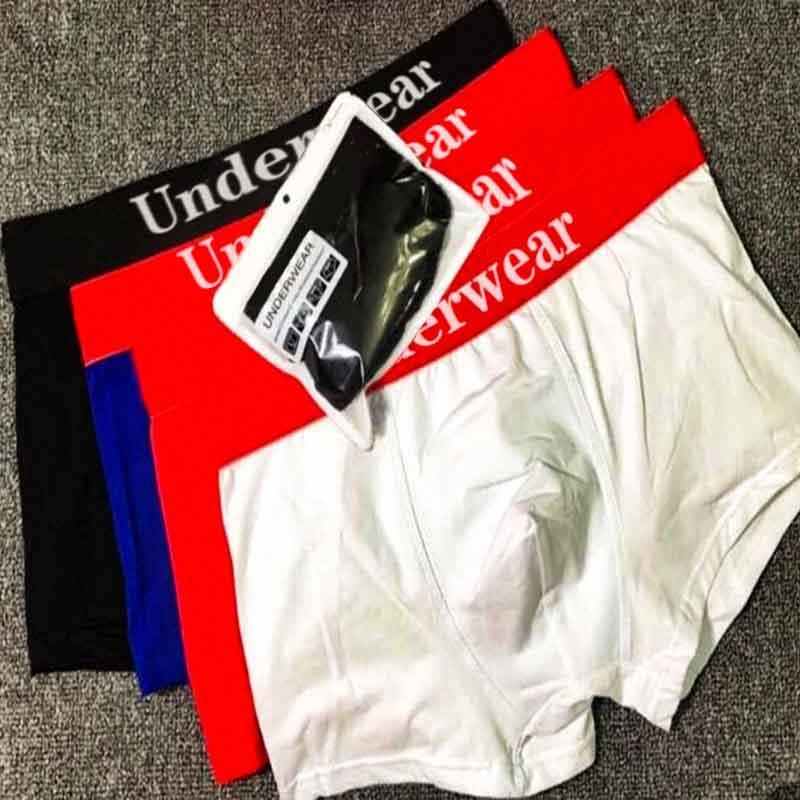 Hommes Shorts Sous-fonds Homme Panties Mature Boy Sous-vêtement pour homme Sexy Sexy Taille Été Haute Qualité Lettre de la Mode Print Pantalon quotidien