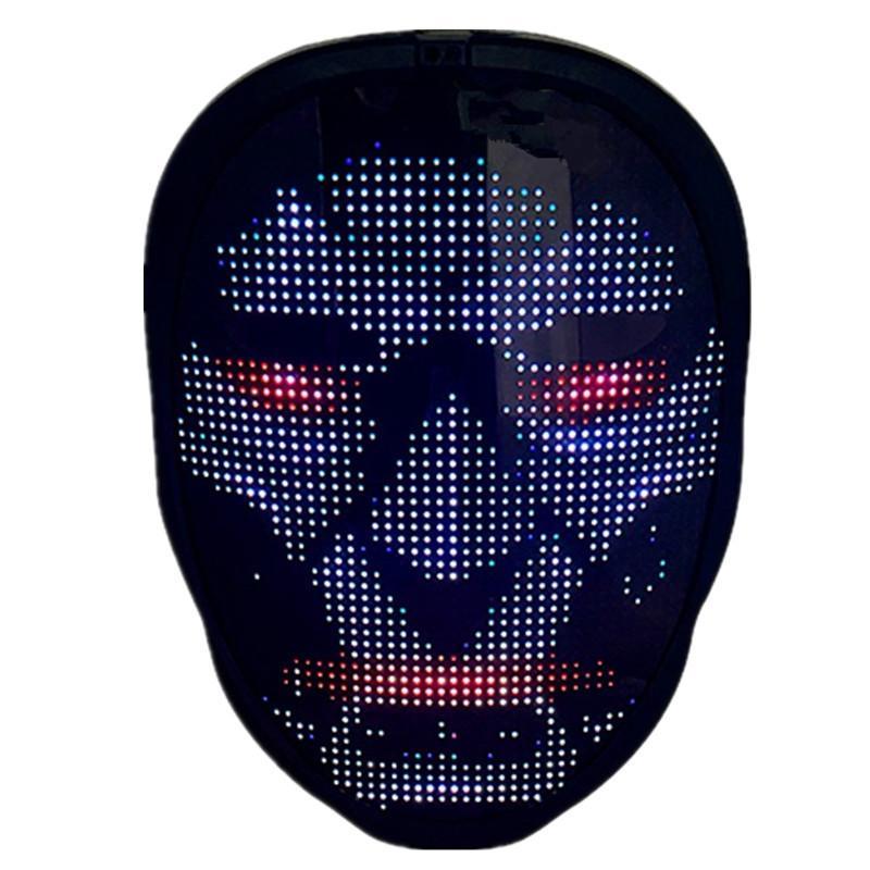 Maske Bluetooth Ile Işık Yukarı - Programlanabilir LED Yüz Maskeleri Çocuklar Yetişkin Kostüm Cosplay Cadılar Bayramı Noel Partisi