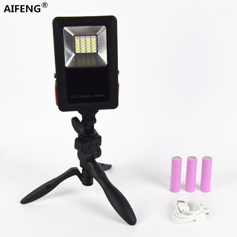 Lanternas portáteis Aifeng Acampar Luz recarregável LED Lâmpada Lanterna 18650 Floodlight para Caminhadas Tenda Light1