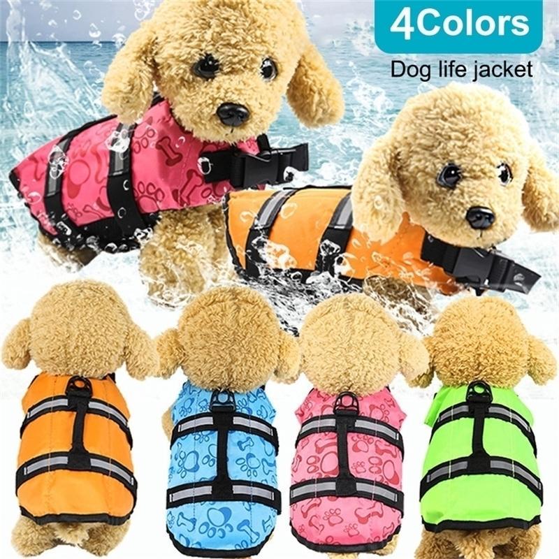 Cachorro de rescate Desgaste de seguridad Ropa de seguridad Chaleco de natación Perro doméstico al aire libre Dog Cat Float Doggy Chaqueta Chalecos XS-XL Y200917